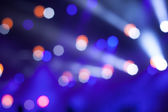 Blue Stage Lights, light show at the Concert — Stock Photo