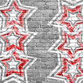 Red grunge background with stars — Stock Photo