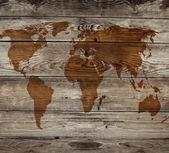Vintage kaart van houten achtergrond — Stockfoto
