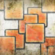 Abstract squares on grunge background — Stock Photo