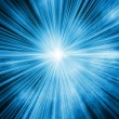 Blue light burst background — Stock Photo