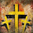 Cross on abstract grunge background — Stock Photo #30684481