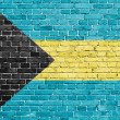 Grunge Bahamas flag  — Stock Photo