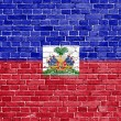 Grunge Haiti flag — Stock Photo