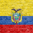 Grunge Ecuador flag  — Stock Photo