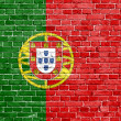 grunge portugal flagga — Stockfoto