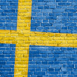 Stock Photo: Grunge Sweden flag