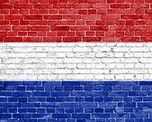 Grunge 荷兰国旗 — 图库照片