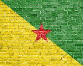 Grunge French Guiana flag — Stock Photo