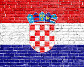 Grunge Croatia flag — Stock Photo