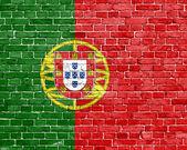 Grunge 葡萄牙国旗 — 图库照片