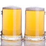 Beer mugs — Stock Photo