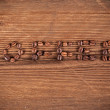 Coffee inscription made from coffee beans — Stock Photo