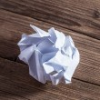 Close-up of crumpled paper ball — Stock Photo