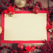 Vintage paper with christmas decoration  — Foto de Stock