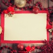 Stock Photo: Vintage paper with christmas decoration
