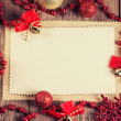 Vintage paper with christmas decoration — Stock Photo