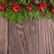 Christmas decoration with fir tree branches  — Stock Photo