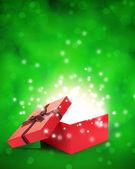 öppna presentförpackning med ljus insideout — Stockfoto
