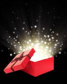 Abrir la caja de regalo con luz insideout — Foto de Stock