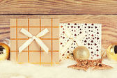 Gift boxes with christmas decoration — Стоковое фото