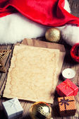 老式圣诞节装饰纸 — 图库照片