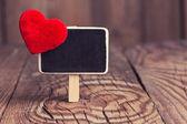 Blackboard with red heart — Стоковое фото