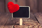 Blackboard with red heart — Stockfoto