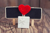 Blackboard with red heart — Foto Stock