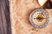 Map with compass — Stock Photo
