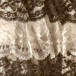Black and white lace — Stock Photo