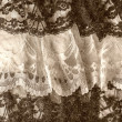 Stock Photo: Black and white lace