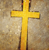 Cross on grunge background — Stock Photo