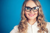 Young woman in glasses — Stock Photo