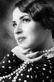 Retro kadının yüzü — Stok fotoğraf