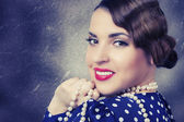Smiling retro Woman — Stok fotoğraf