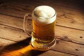 Mug of Beer with foam — Stock Photo