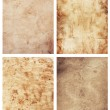 Four old paper sheets on white background — Stock Photo #43727753