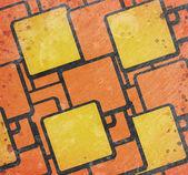 Абстрактный квадраты на гранж-фон — Стоковое фото