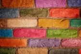 Illustration of colorful brick wall — Stock Photo