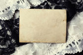 Blank vintage photo paper — Stock Photo