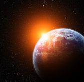 реалистичные планеты земля в пространстве — Стоковое фото