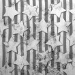 White stars on grunge background — Stock Photo #43740783