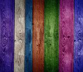 Vive fond de planches de bois colorés — Photo