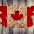 Canada flag in form of torn vintage paper — Stock Photo #45623101