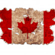 Canada flag in form of torn vintage paper — Stock Photo #45623105
