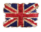 England flag in form of torn vintage paper — Stock Photo