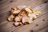 Slice Dried Apple fruit  — Stock Photo