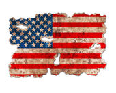 USA flag in form of torn vintage paper — Stock Photo