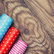 Rolls of colored wrapping paper — Stock Photo #47331863